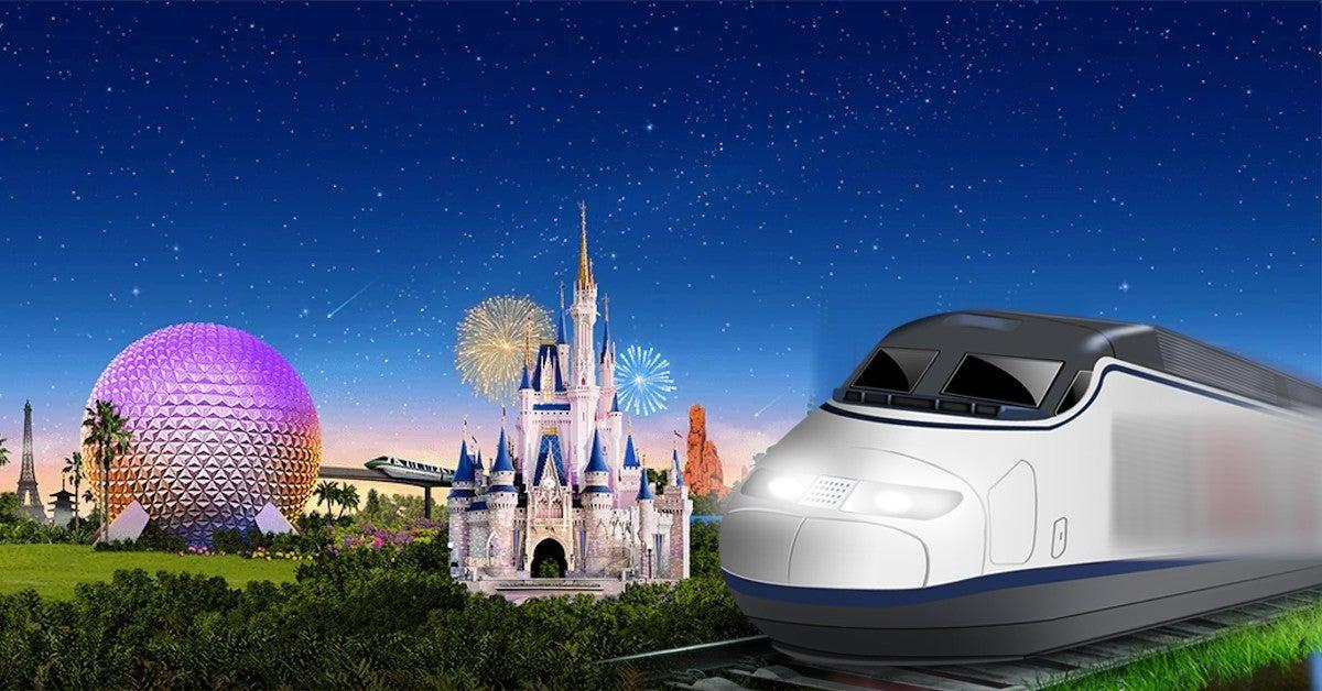 Disney World High Speed  Train Station Brightline Virgin