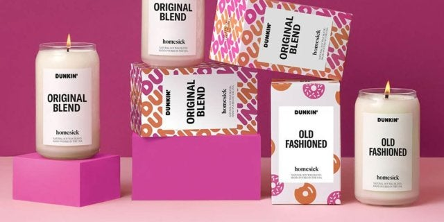 dunkin candle collection