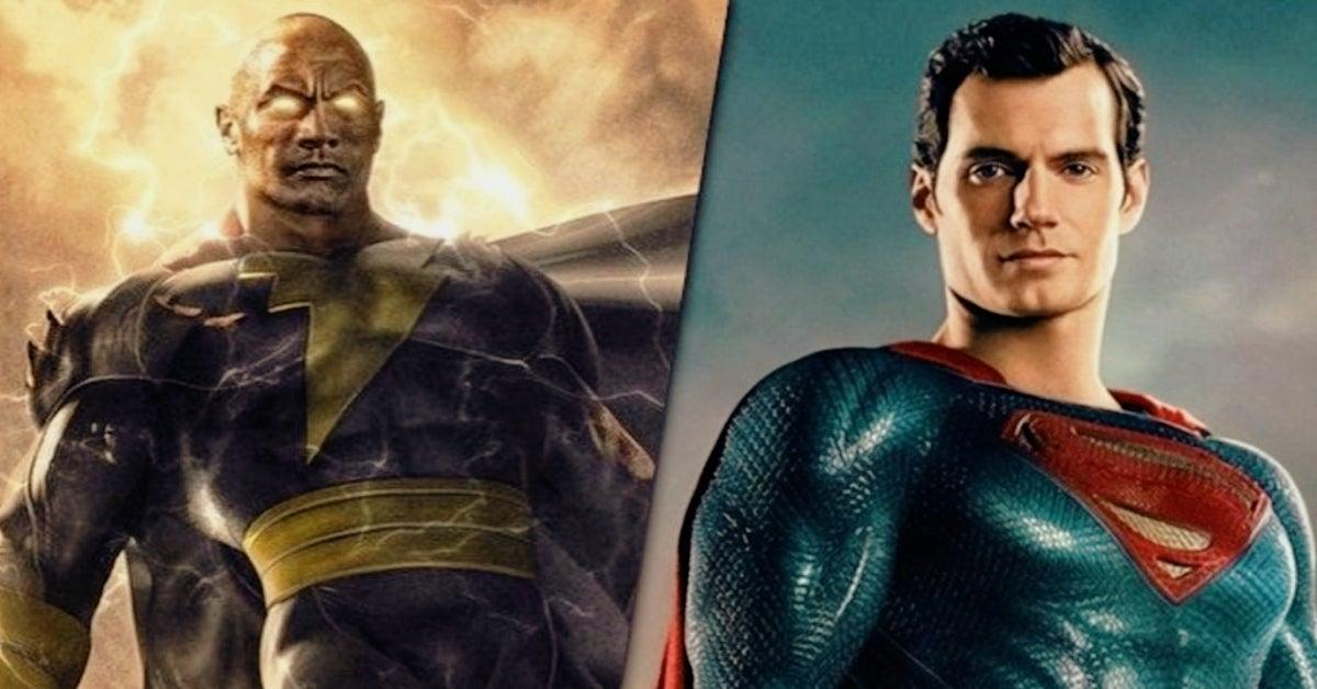 Henry Cavill Superman Dwayne Johnson Black Adam