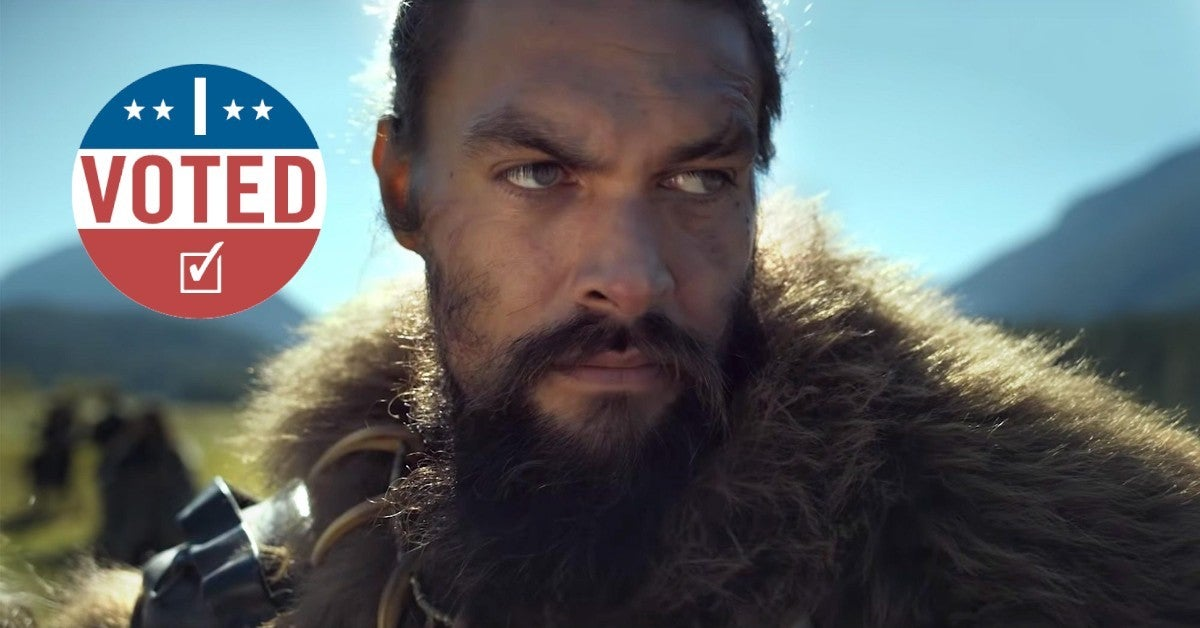 Jason Momoa I Voted Photo Election 2020