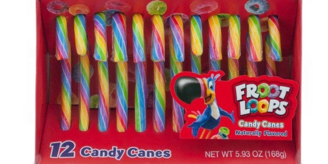 kelloggs froot loops candy canes
