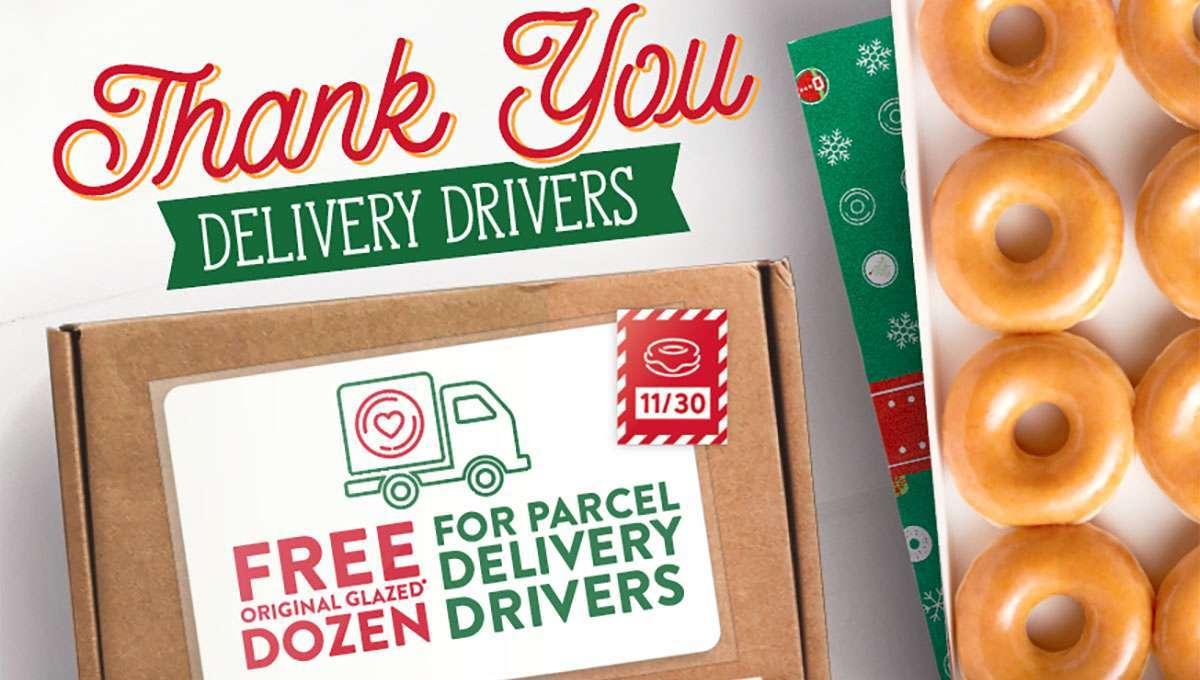 krispy kreme thank you delivery drivers