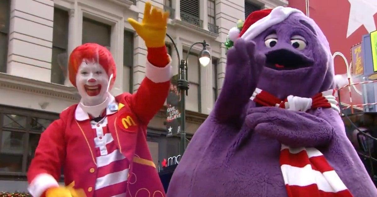 Macys Thanksgiving Day Parade 2020 Ronald McDonald Face Shield Reactions