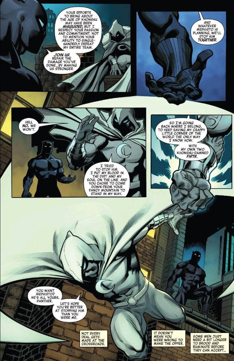 Marvel Moon Knight Rejects Offer Join Avengers 38 Spoilers