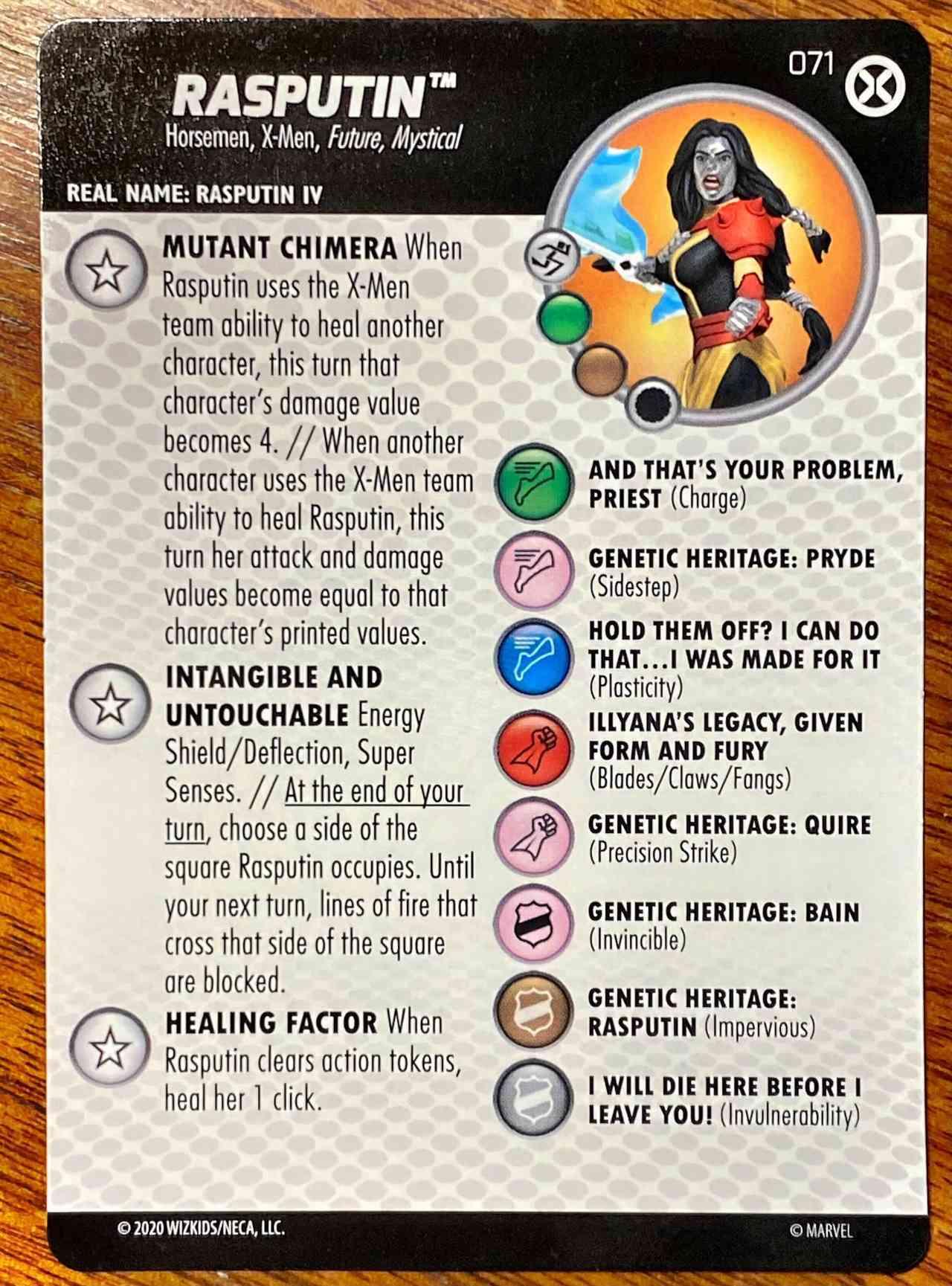 Marvel X-Men House of X HeroClix Rasputin Chase (1)