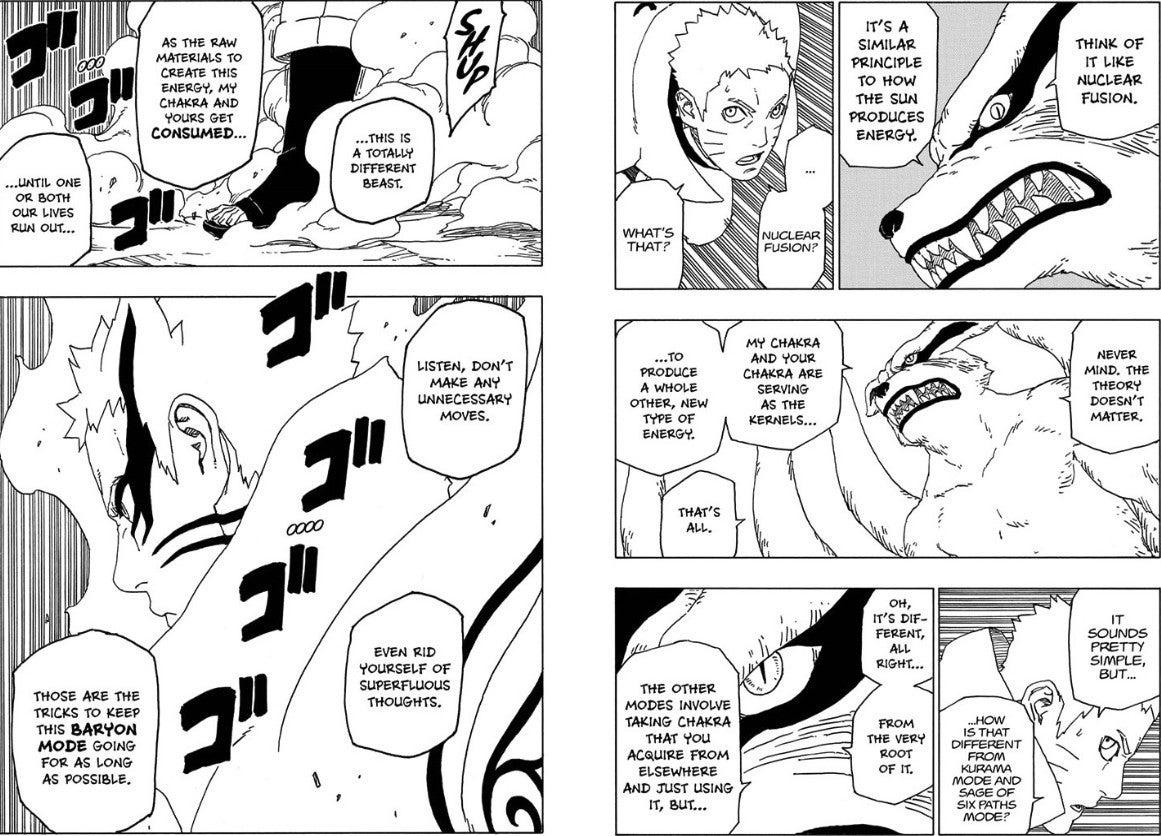 Naruto New Nine Tails Baryon Sage Kurama Mode Powers Differences