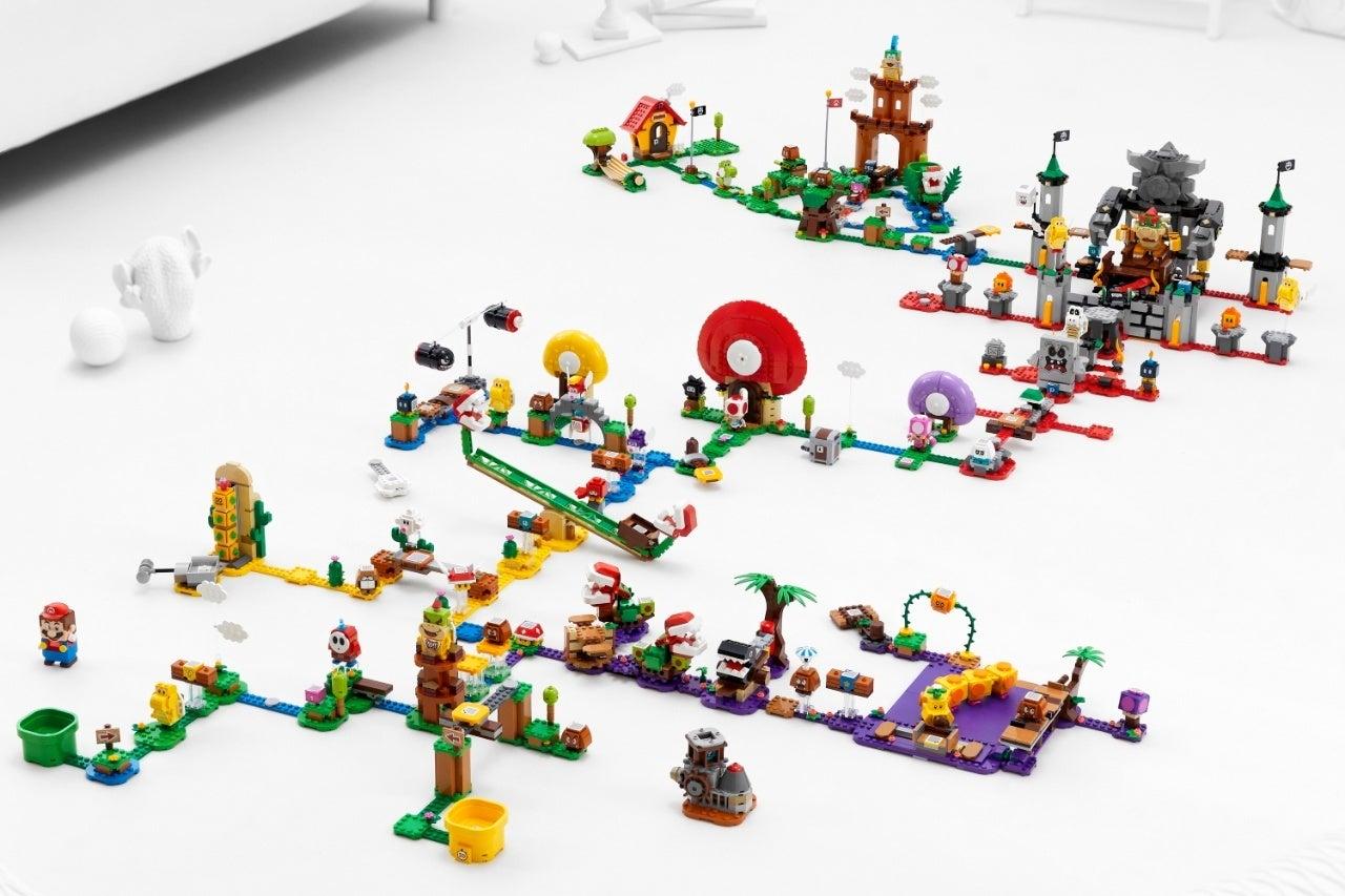 new super mario lego set big build