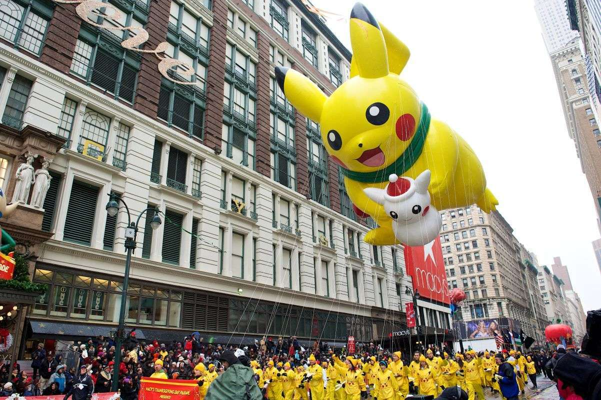 Pikachu in the Macy's Thanksgiving Day Parade - photo Kent Miller Studios- Macy's, Inc
