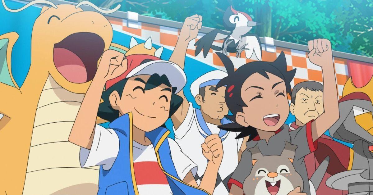 Pokemon Journeys Ash Goh Eating Competition Anime