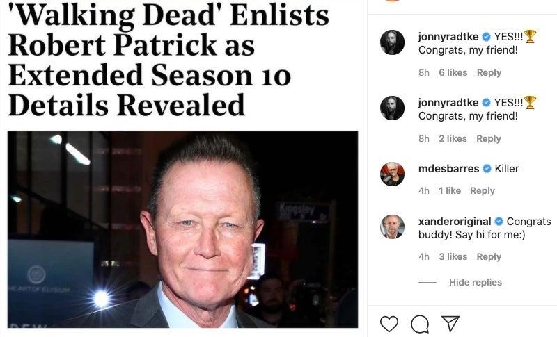 Robert Patrick Xander Berkeley The Walking Dead