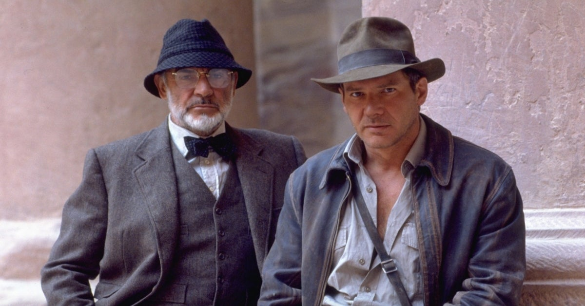 Sean Connery Harrison Ford Indiana Jones The Last Crusade