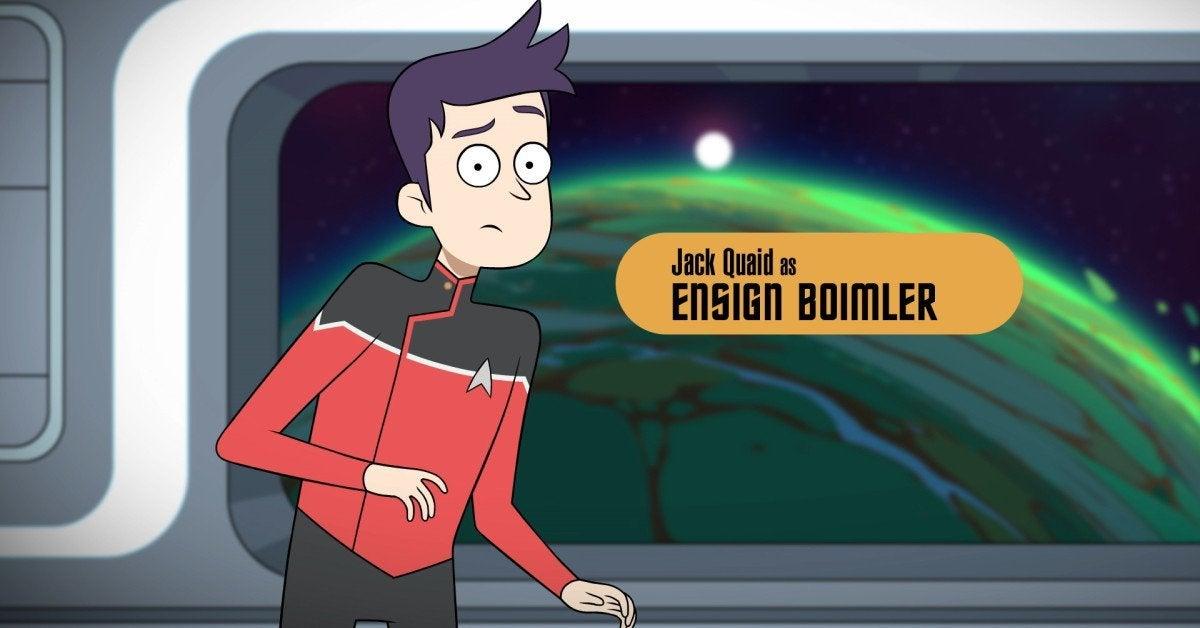 Star Trek Lower Decks Jack Quiad as Ensign Boimler
