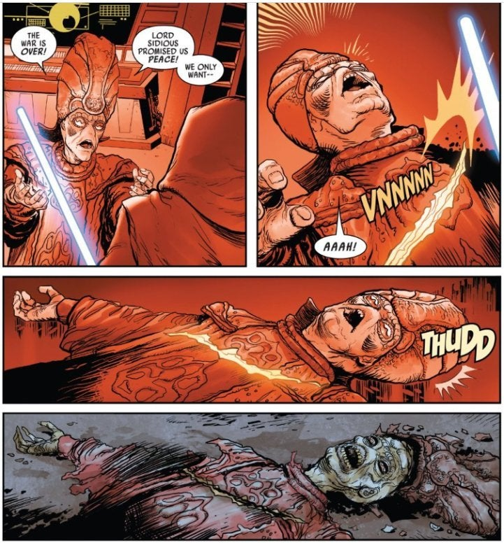 star wars darth vader comic revenge of the sith