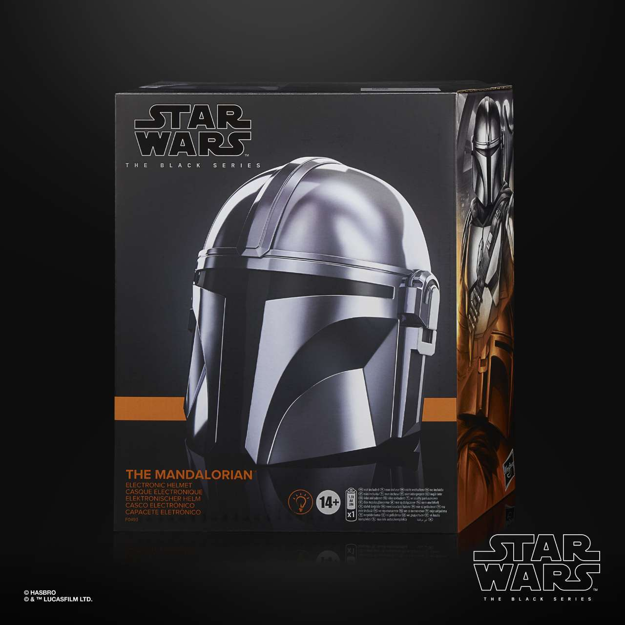 STAR WARS THE BLACK SERIES THE MANDALORIAN ELECTRONIC HELMET - in pck (1)