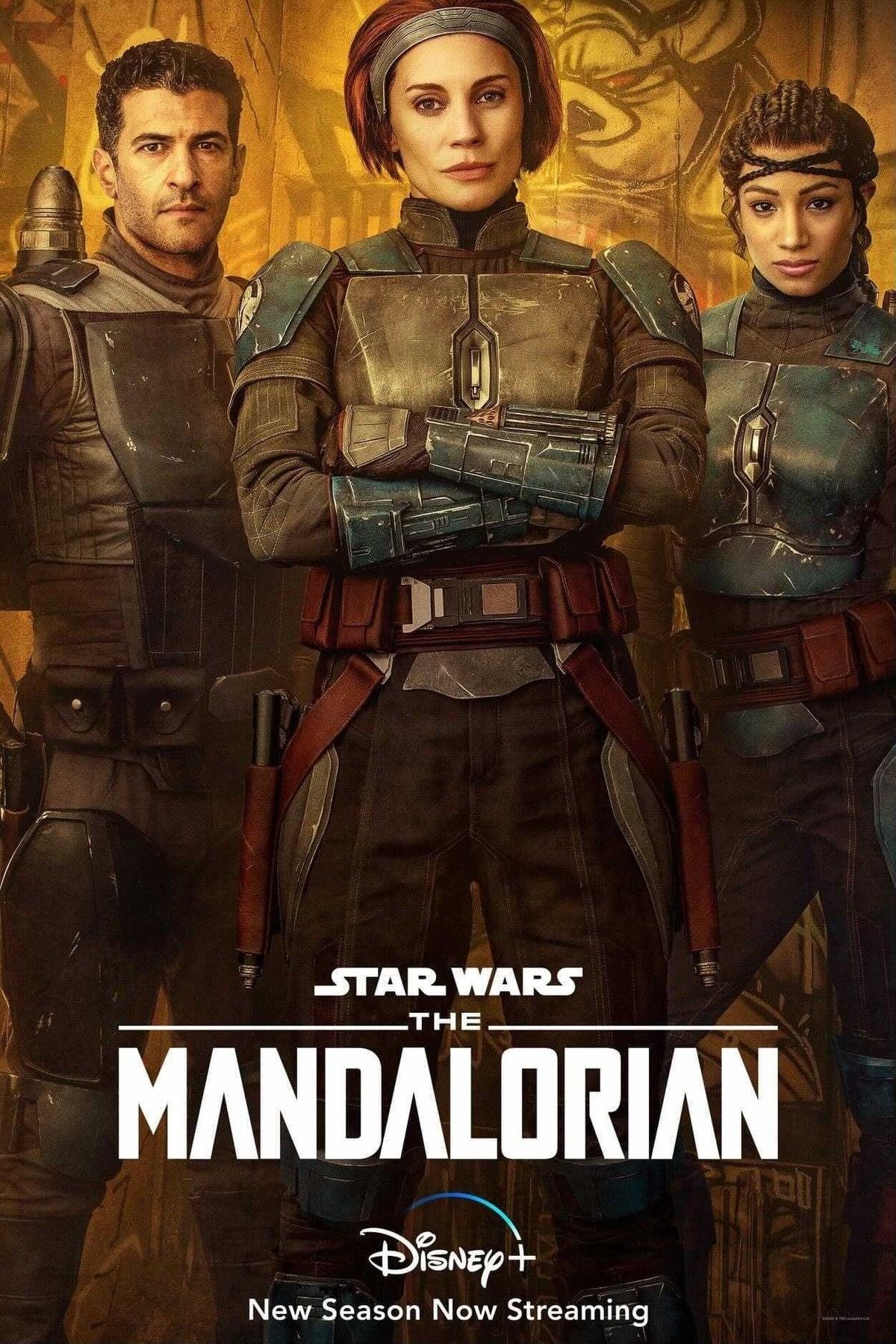 Star Wars The Mandalorian Bo Katan Kryze Koska Reeves Axe Woves Poster (Katee Sackhoff Sasha Banks)
