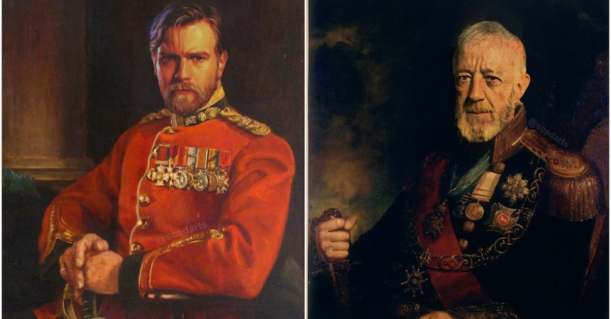 Star Wras Obi Wan Kenobi as Historical Military Commanders Painting Fan Art