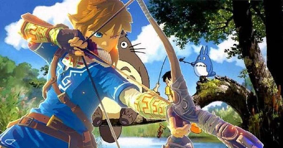 Studio Ghibli Zelda Fusion Art