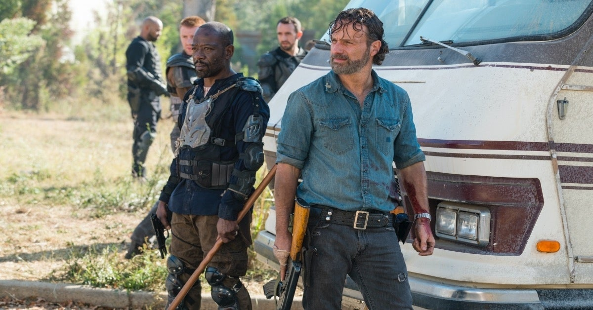 The Walking Dead Andrew Lincoln Lennie James Rick Grimes Morgan Jones