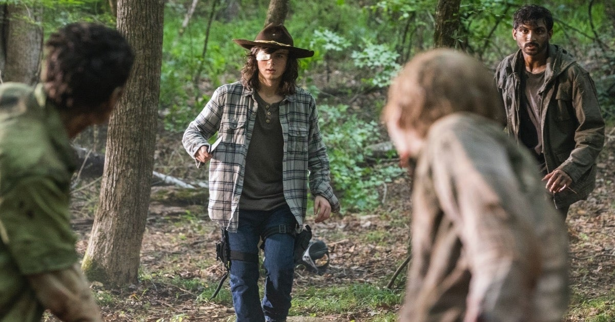 The Walking Dead Carl Grimes zombie bite Chandler Riggs