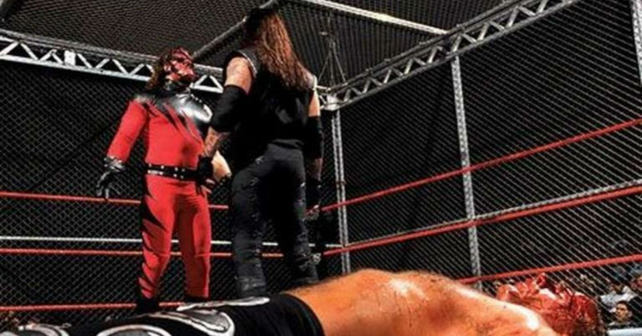 The Undertaker Explains WWE's Original Idea for the Hell in a Cell Mat... image