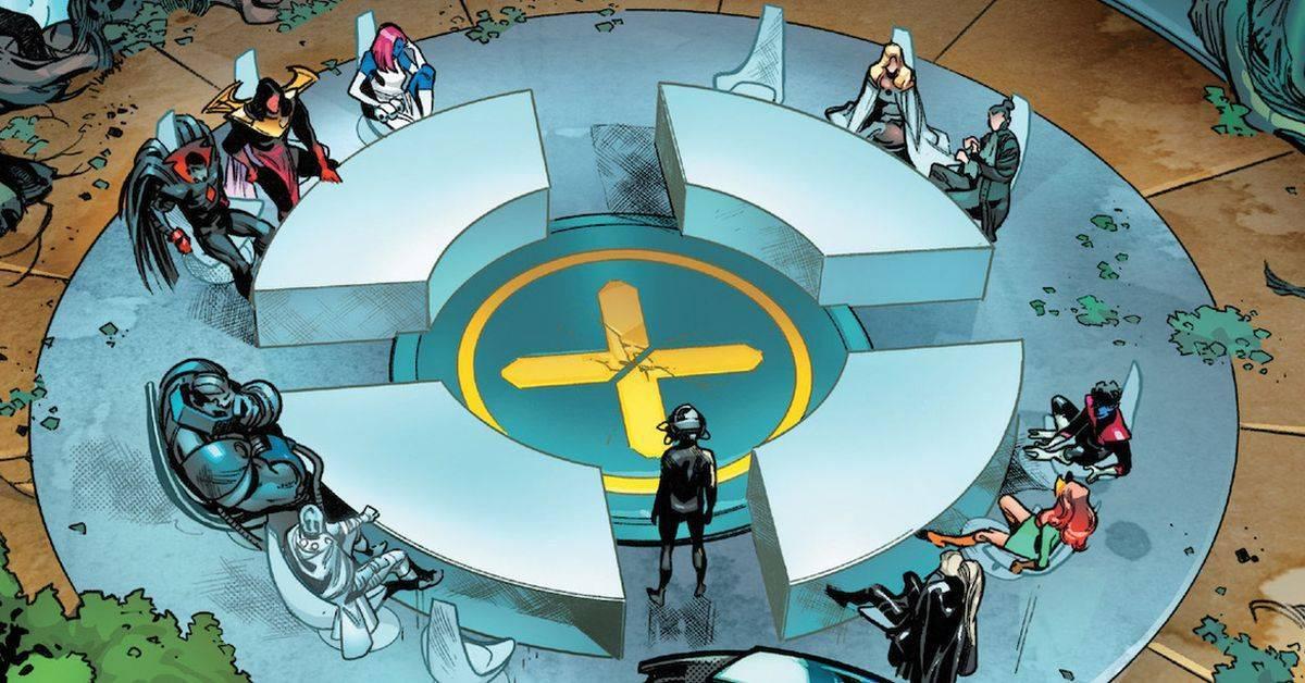 x-men quiet council house of x x of swords