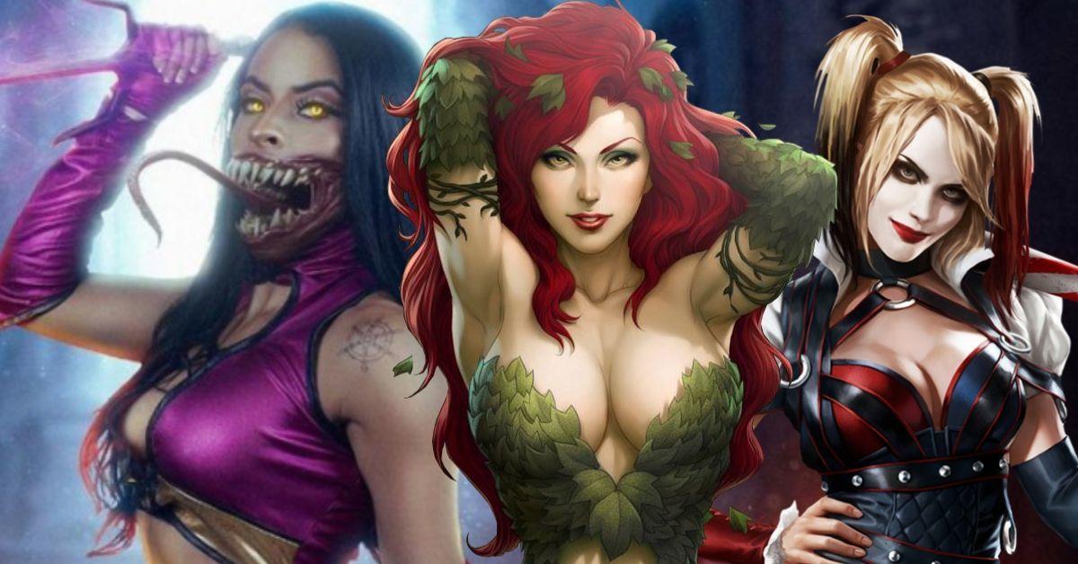 Zelina Vega WWE Cosplay Mortal Kombat Mileena Harley Quinn Poison Ivy Cosplay