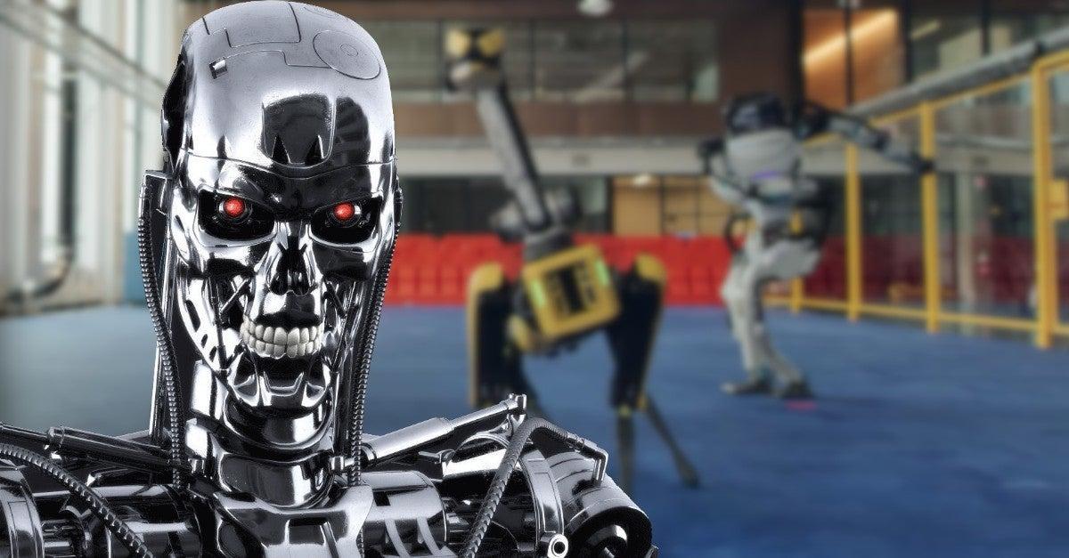 Boston Dynamics Dancing Robots Terminator Comparisons