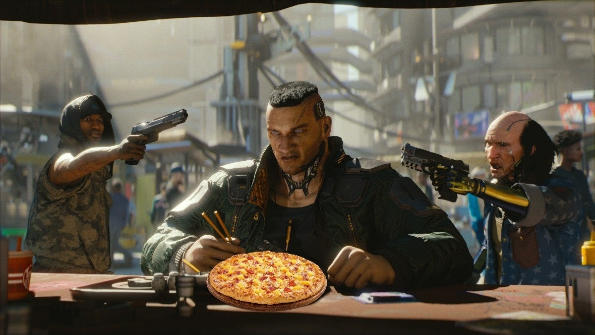Cyberpunk 2077 pizza