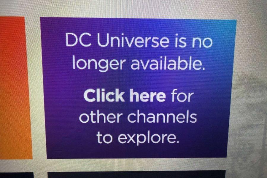 dc universe roku no app