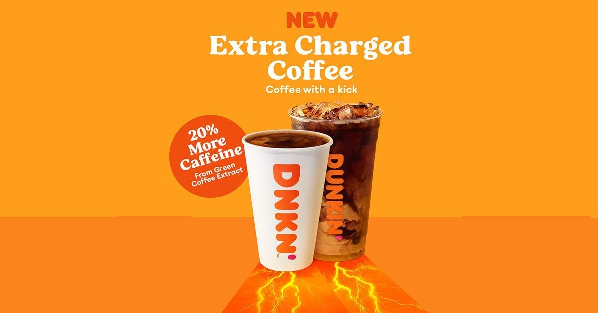 dunkin extra charge coffee