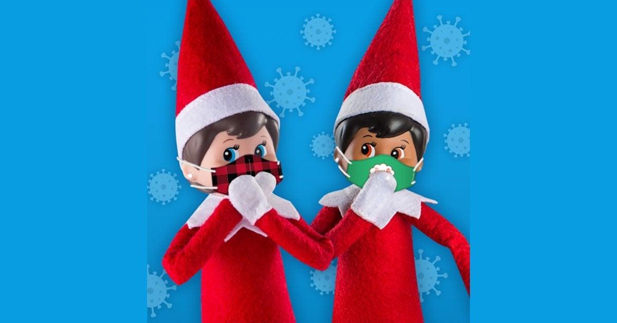 elf on the shelf face masks