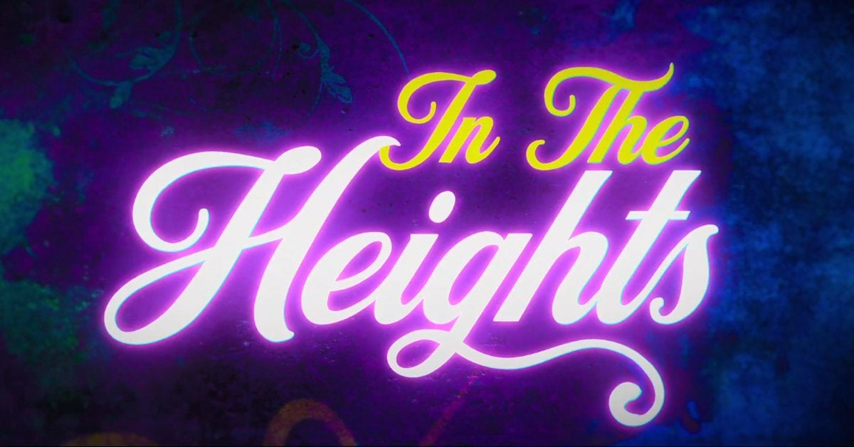 in the heights movie logo 2021