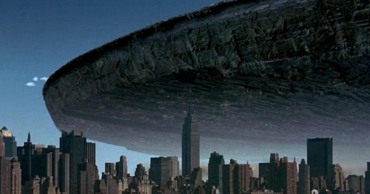 independence day ufo spaceship new york city