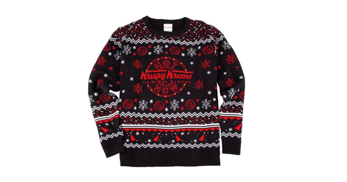 "Krispy Kreme Selling ""Hot Now"" Light Up Sweater For the Holidays"
