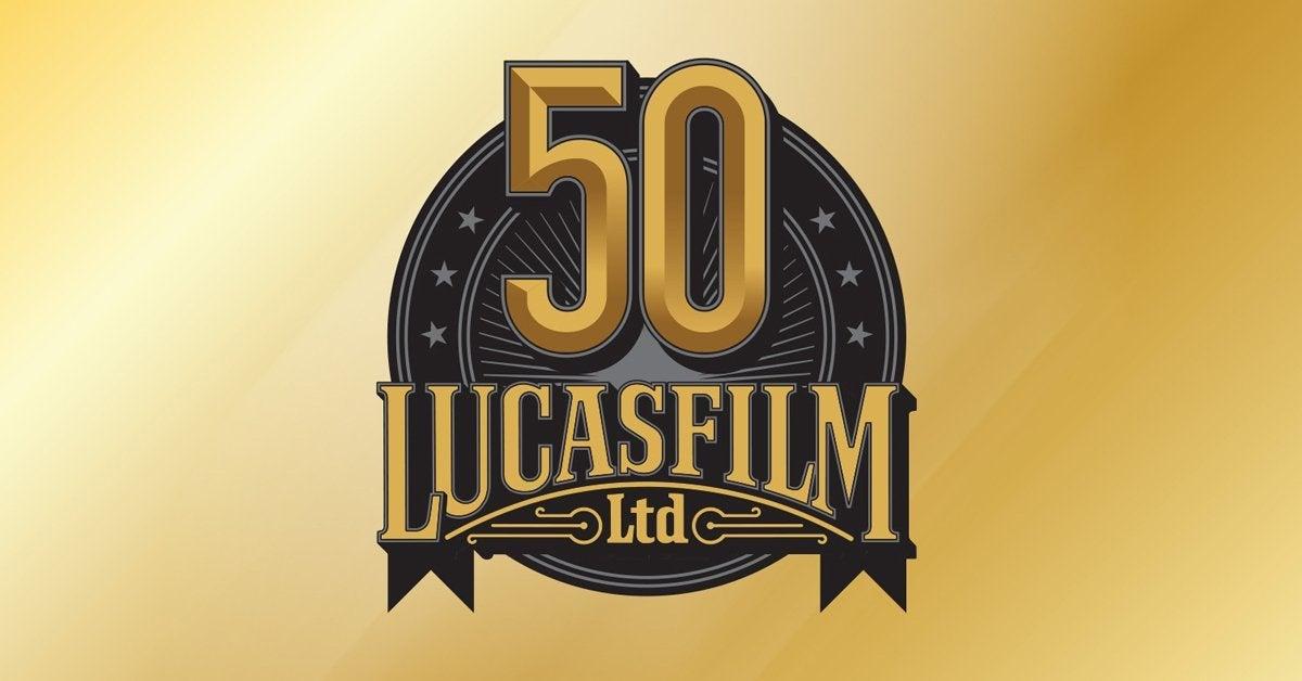 lucasfilm 50th anniversary star wars logo 2021