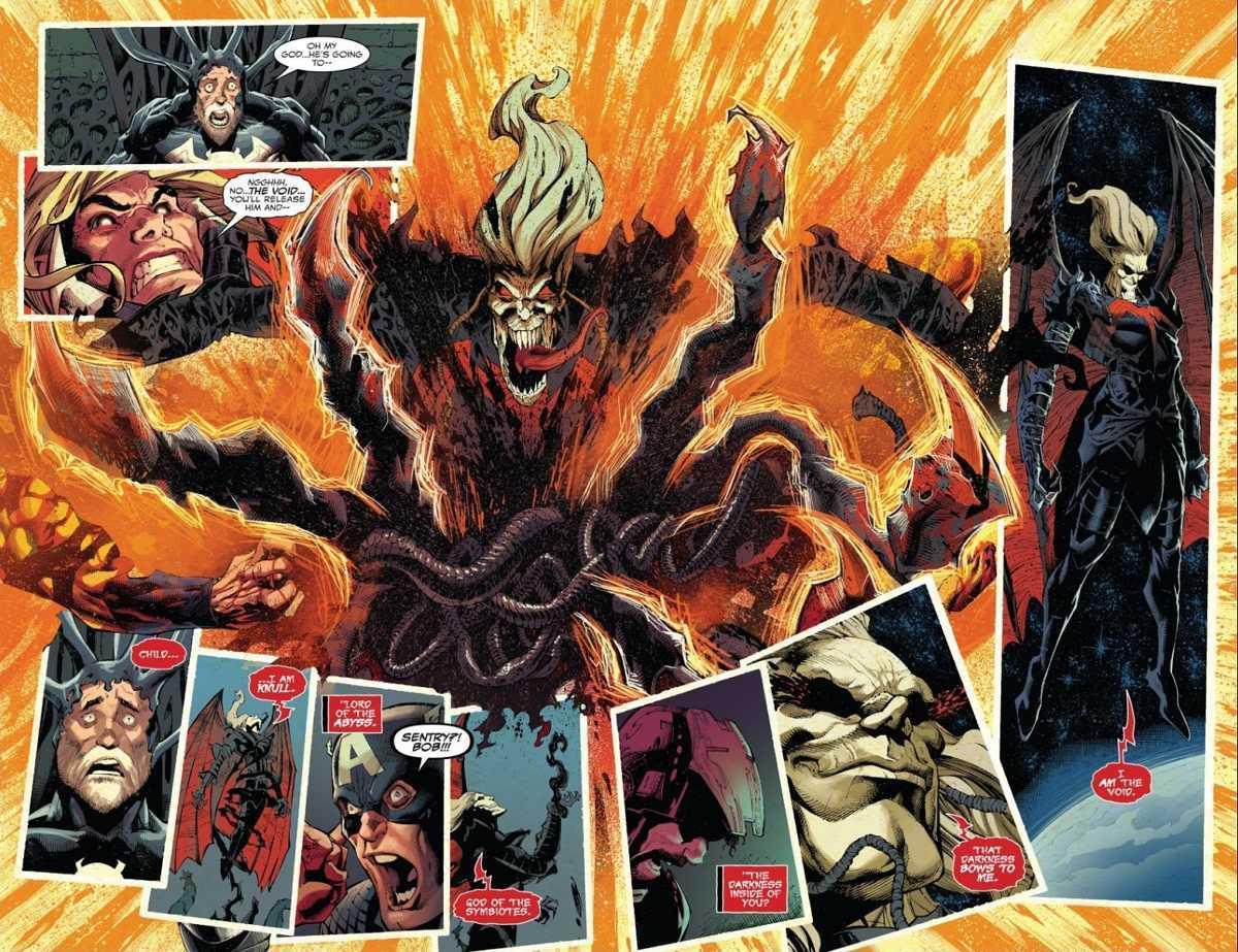 Marvel King in Black Knull Kills Sentry
