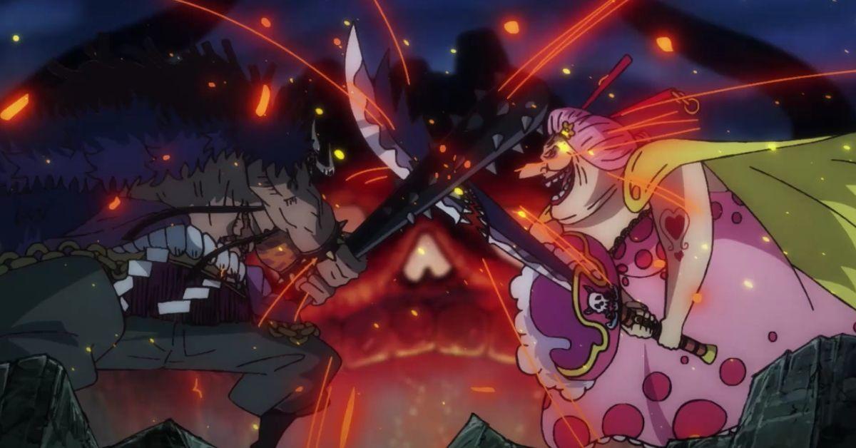 One Piece Big Mom Kaido Fight Wano Anime