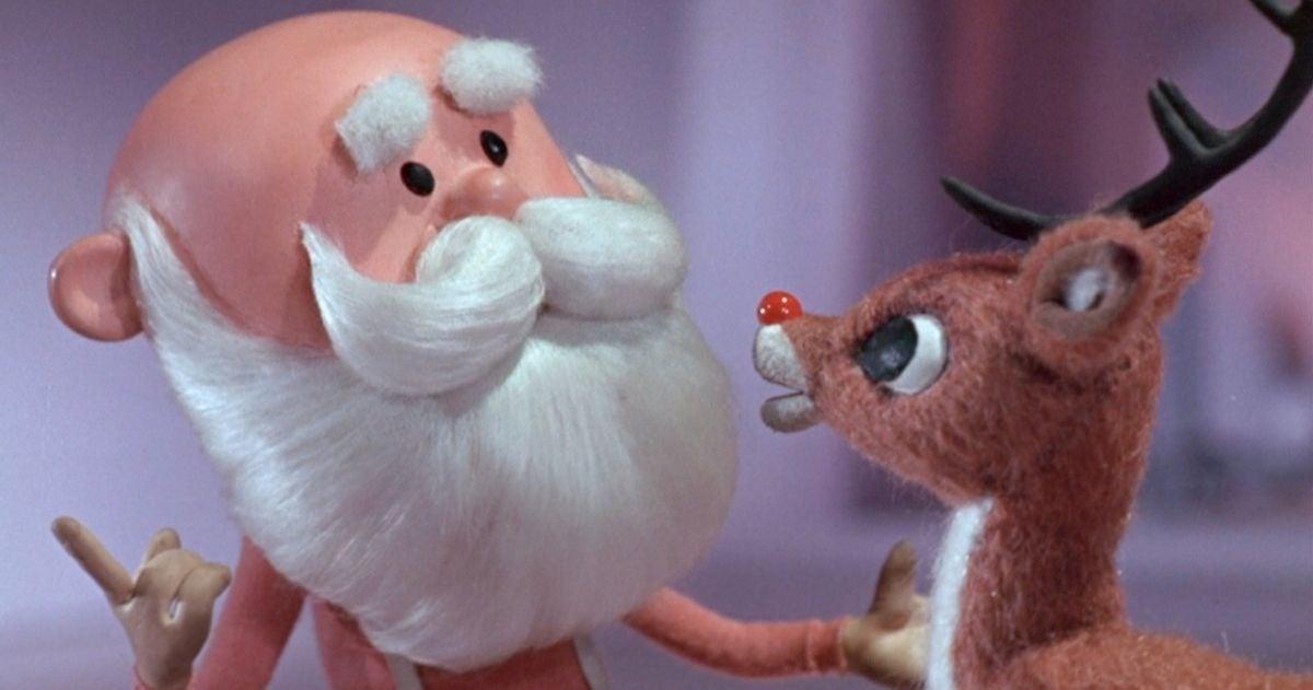 rankin bass rudolph santa puppet