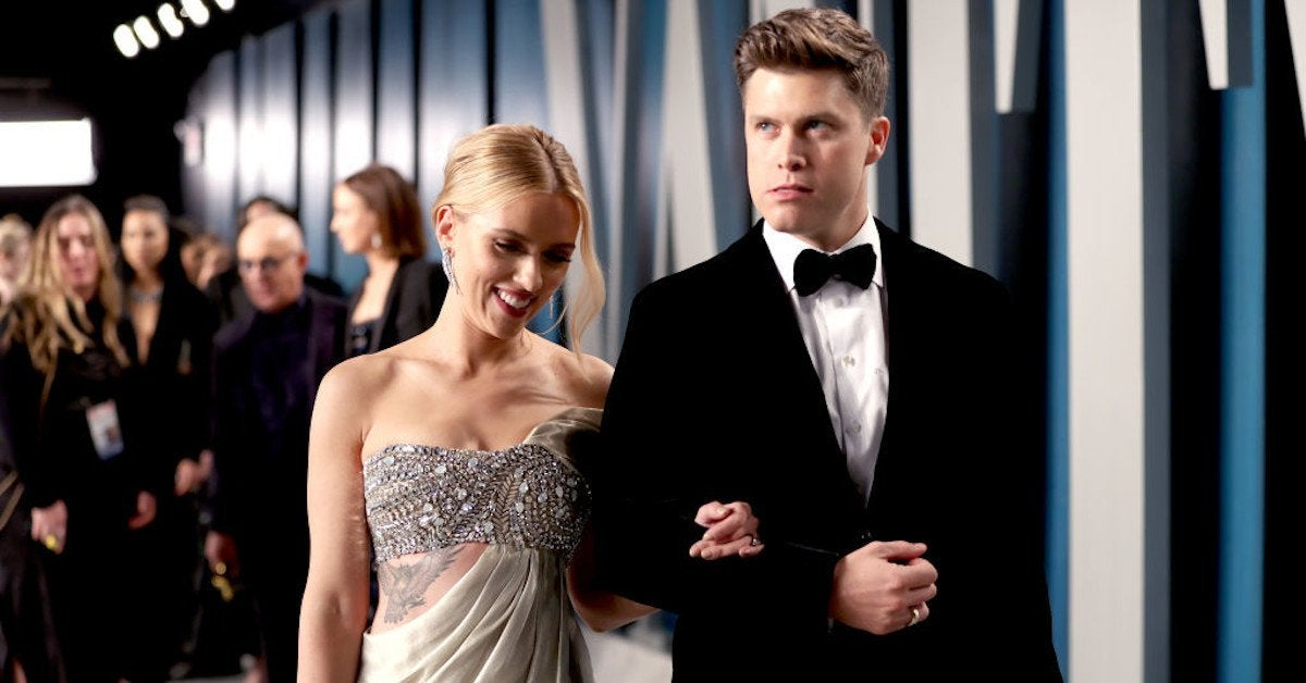 Scarlett Johnsson Colin Jost Joke SNL
