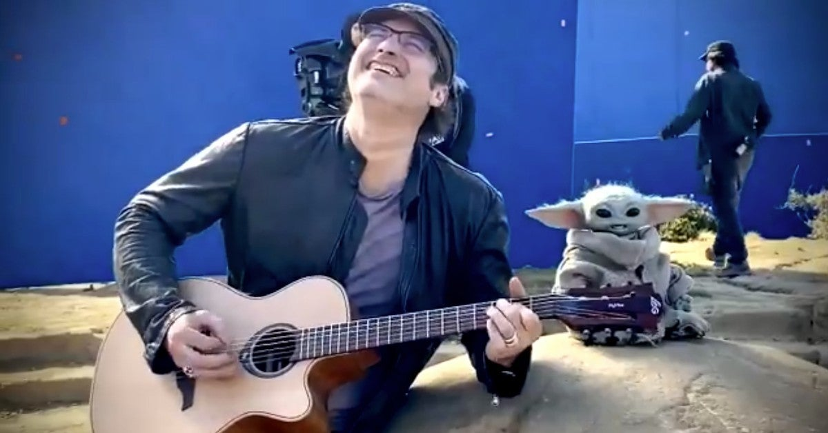 Star Wars Mandalorian Baby Yoda Rocking Out Robert Rodriguez