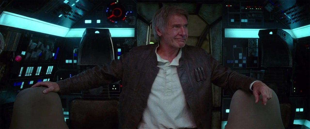 star wars the force awakens 2015 han solo millennium falcon