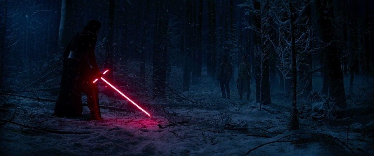star wars the force awakens 2015 kylo ren forest
