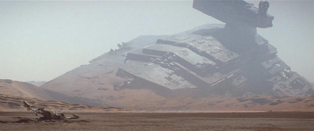 star wars the force awakens 2015 star destroyer