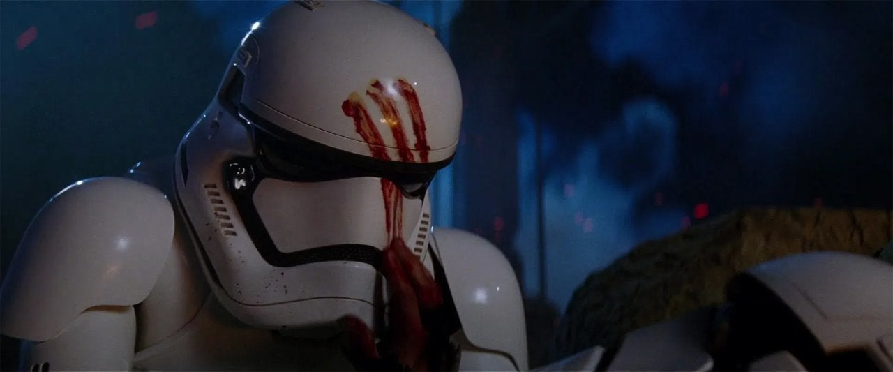 star wars the force awakens 2015 stormtrooper blood
