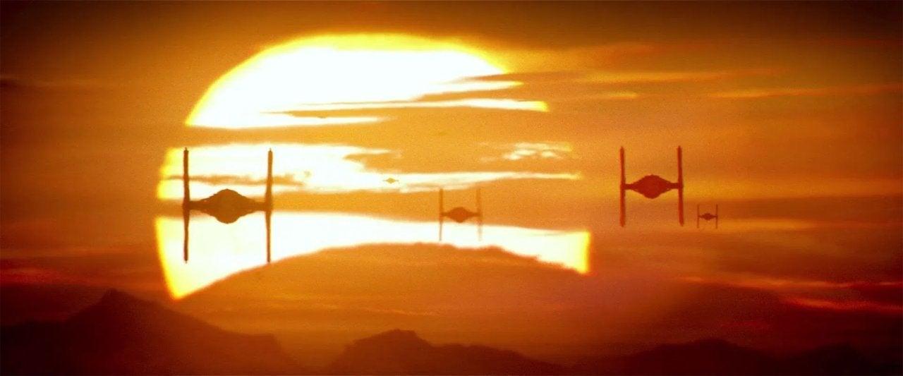 star wars the force awakens 2015 tie sunset