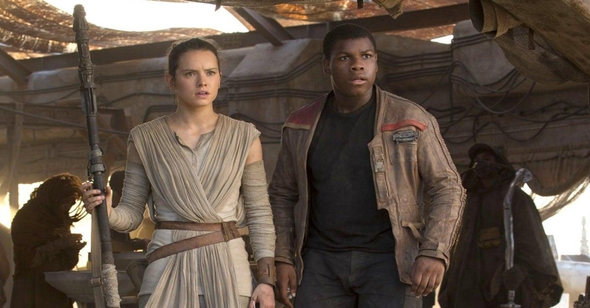 Star Wars The Force Awakens Rey Finn Daisy Ridley John Boyega
