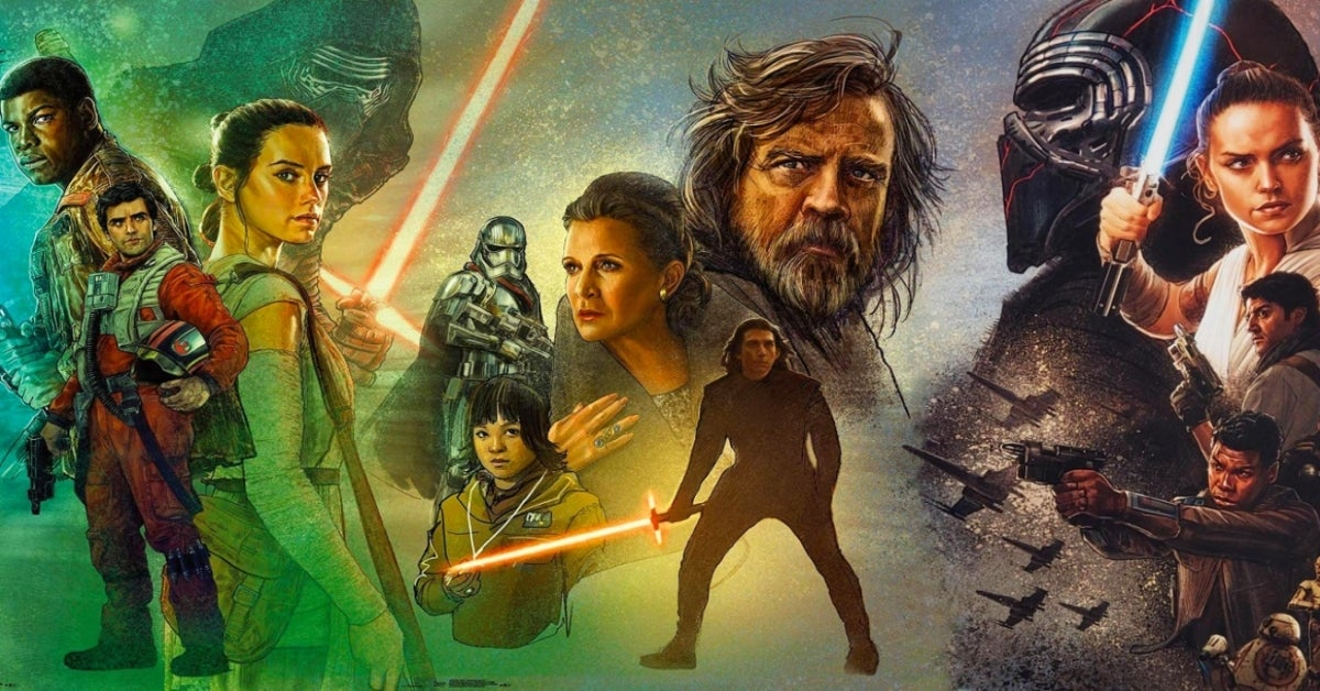 Star Wars The Force Awakens The Last Jedi The Rise of Skywalker