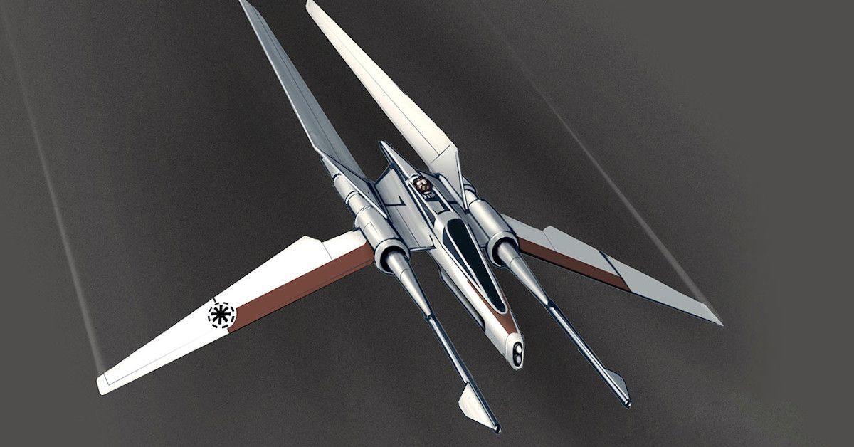 Star Wars The High Republic Jedi Stafighter Vector