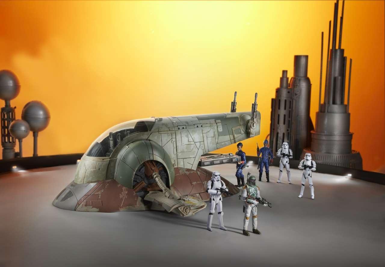 STAR WARS THE VINTAGE COLLECTION BOBA FETT'S SLAVE I Vehicle - oop (7)