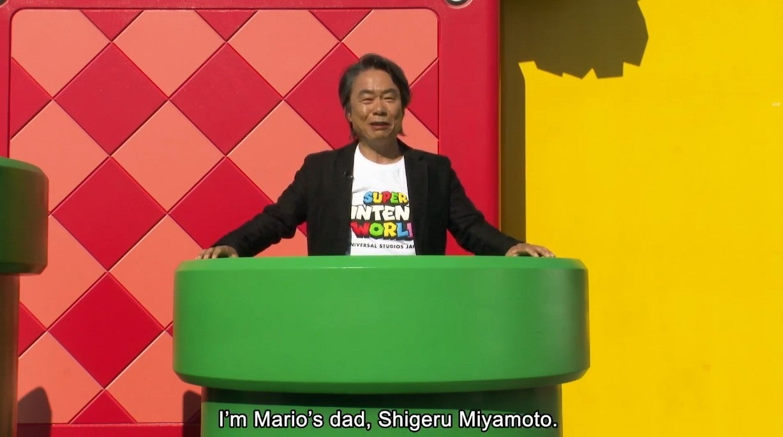 Super Nintendo World Miyamoto
